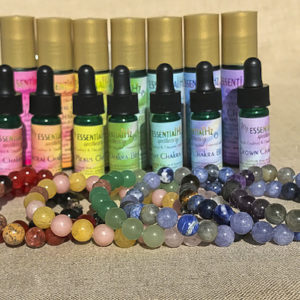 Chakra Aromatherapy Crystal Bracelets and Essential Oils