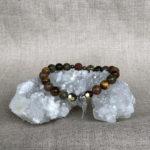 Archangel Uriel Gemstone Crystal Feminine Energy Aromatherapy Bracelet