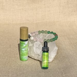 Heart Chakra Aromatherapy Crystal Bracelet and Essential Oil Set