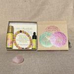 Solar Plexus Chakra Aromatherapy Crystal Bracelet and Essential Oil Gift Set
