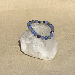 Throat Chakra Aromatherapy Crystal Bracelet